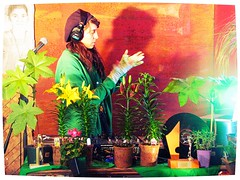 la jardinire... (mariej55quebec) Tags: red green art nature festival night fun rouge artist vert qubec nuit artistes vieuxqubec artiste spectacle jongleur acrobates artistesderue amuseurs awardtree otuvasquandtudortenmarchant