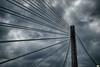 Entre nubes de tormenta (juantiagues) Tags: puente nubes tormenta pontevedra tirantes juanmejuto juantiagues