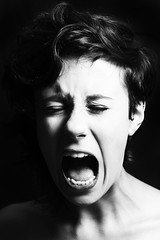 Pycho (F. Portella) Tags: brazil blackandwhite white black love girl brasil movie girlfriend amor sopaulo namorada psycho scream garota filme grito pretoebranco psicose felipeportella beatrizmarassi
