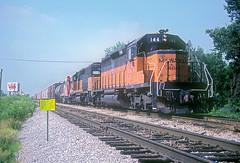 MILW SD40-2 146 (Chuck Zeiler) Tags: road railroad train milwaukee locomotive 146 chz milw emd sd402