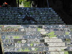 stairs with pattern (Hayashina) Tags: chile light southamerica pattern staircase shade puertovaras