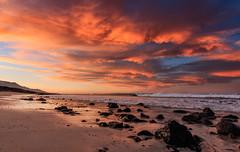 Sunrise in Janda (Pedro Lpez Batista) Tags: sea seascape sunrise canon landscape colours fuerteventura paisaje canarias amanecer 7d canaries canaryislands markii jandia cofete