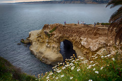 Sunny Jim Cave, La Jolla, CA (Photos By Clark) Tags: california flowers cliff water skyline waves unitedstates pacific sandiego cities places lajolla location where northamerica nik bluffs subjects hdr lightroom locale canon2470 beachshots canon60d hdrefx
