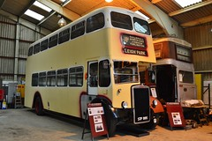 Under Restoration (PD3.) Tags: city uk england bus english buses electric open fort top transport royal 7 nelson 123 hampshire topless orion portsmouth depot spaceship preserved rv titan topper leyland 995 fareham stp mcw armouries hants td4 6367 pd3 cpptd stp995 rv6367
