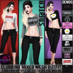 Sn@tch Clubbing Mixed Mesh Outfit Vendor Ad LG (Tess-Ivey Deschanel) Tags: sntch snatch secondlife sl second sexy style life punk pixels party iveydeschanel ivey ihearts lingerie omegasystem omegaappliers clothing clothes clubwear costumes cyberpunk casual summer