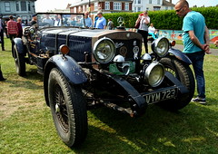 old Mercedes Benz (H Burton) Tags: classiccar vintagecar mercedesbenz sportscar bluecar classicsportscars oldmercedesbenz classicmercedesbenz dealmotorshow dealclassicmotorshow