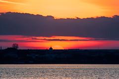 Sunset... (Francizc Chachula) Tags: nikon d7200 70300mm nikkor sunset constanta romania april 2016 violet orange sky water drama church