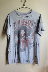 Distressed/ Shredded Jimi Hendrix T Shirt (shopthegasstation) Tags: ladies girls festival rock shirt altered clothing concert tour graphic guitar cut top grunge gray ripped band tshirt guys womens holes gasstation mens jersey hendrix etsy jimi distressed tee unisex destroyed shredded