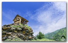 Small hut on top of a mountain in Janjehli valley (KS Photography!) Tags: wood old travel roof urban panorama india house mountain building green history texture abandoned home broken nature beautiful beauty grass rock architecture clouds rural forest trekking trek vintage landscape outdoors photography wooden ancient nikon rocks arch exterior antique empty rustic ruin meadows peak bluesky nobody structure historic lodge haunted traveller tokina hut environment aged uphill archeology nikondigital manali mothernature himalayas himalayan himachalpradesh naturephotography travelphotography ultrawideangle janjehli photoborder greathimalayas tokina1116mmf28 1116mmf28 janjehlivalley glorioushimalayas