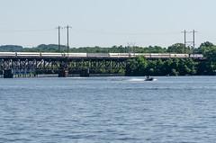 16-3699 (George Hamlin) Tags: railroad bridge water train silver river de photography boat photo george maryland grace 98 amtrak havre decor ati meteor susquehanna hamlin perryville passenge