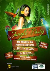Jungle Party (grandelelo) Tags: wood b party plant green club design model museu coconut palm nightclub jungle mic madeira beatiful mozambique maputo aurelio centenario leath flayer chambal graphicriver grandlelo