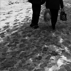 . (M.M. Andrievici) Tags: winter boy portrait people urban bw woman snow man motion blur color colour art girl contrast digital children square landscape photography photo blackwhite high key child dynamic low romania transylvania range clair transilvania zone tonal obscur luminosity zalau andrievici