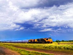 spirit of the outback - heading west (Fat Burns) Tags: train outback traintravel emerald longreach westernqueensland barcaldine spiritoftheoutback flickraward5