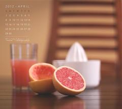 April Calendar (Faisal | Photography) Tags: orange cup colors canon eos dof natural bokeh juice 14 usm 50 ef canonef50mmf14usm 50d aprilcalendar canoneos50d faisal|photography فيصلالعلي