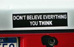 bumper sticker (think)