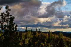 Early Evening View in the Sierras (buffdawgus) Tags: clouds landscape nevadacity sierranevada nevadacounty sierranevadamountains sierranevadarange canon70200mmf28lis canon7d topazsoftware lightroom4
