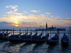 Wake up time (Claudio Cantonetti) Tags: old city trip travel blue venice light sea vacation sky italy panorama cloud sun holiday color building tourism water beautiful architecture river landscape dawn boat canal italian colorful europe wake european cityscape view dusk traditional famous transport scenic grand landmark scene lagoon tourist romance historic romantic gondola venetian venezia channel attraction