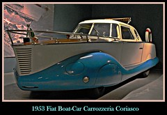 1953 Fiat Boat-Car Carrozzeria Coriasco (PictureJohn64) Tags: auto heritage classic car museum automobile driving traffic fiat famous den transport hague collection commercial transportation historical haag collectie 1953 fahrzeug oto historisch verkeer vervoer klassiek  samochd carrozzeria beroemd gravenhage otomobil louwman boatcar automobiel worldcars  coriasco automoviel klassiesch