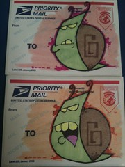 Qwik! Snail Mail (Qwik6!) Tags: bug graffiti sticker character stickers cartoon snail marker sharpie qwik 228label