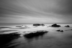At the Crack of Dawn (SteveGreaves) Tags: longexposure sea clouds rocks australia queensland sunshinecoast pointarkwright