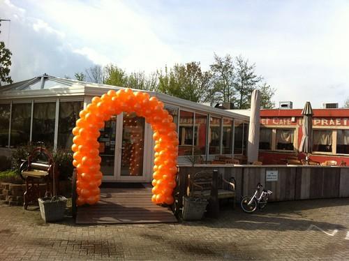 Ballonboog 6m Camping Mattenburg Nieuw Vossemeer