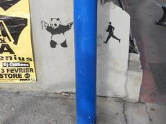 (tomatokid99) Tags: streetart man france stencil panda running montpellier pochoir hérault