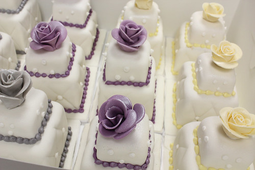 Mini Wedding Cakes Close Up