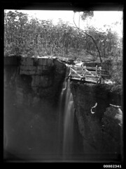 Waterfall, possibly on the Hawkesbury River, NSW, 1880-1909 (Australian National Maritime Museum on The Commons) Tags: waterfall australia outback hawkesburyriver australianscenery landscapephotography australianbush williamfhallcollection