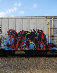Task (KickPushPaint aka Sk8Hamburger) Tags: seattle railroad white art train painting graffiti paint tag rr graff piece tagging freight reefer task armn paint spray
