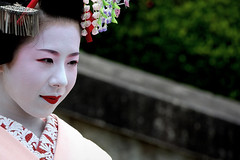 Maiko Ryouka from Gion Higashi (mbenghozi) Tags: voyage travel light portrait people woman cloud sun cute tourism girl beautiful beauty face japan night wonderful pose photography japanese tokyo town photo nikon women kyoto asia pretty raw photographer view photos bokeh extreme picture culture makeup tourist best exotic maiko geiko journey geisha kimono wanted gion fullframe nikkor michel 70200 lenses higashi ochaya hilight travelphotography nikonlenses nikonlens  d3s montrealphotographer benghozi   70200vrii nikkor70200mmf28gvrii   mbenghozi travelother higashiyamadri lensesnikkor wwwmichelbenghozicom michelbenghozicom travelandother