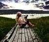 Calmness (Sophia Alexis) Tags: alexis sea summer portrait sky green girl norway self 365 sophia