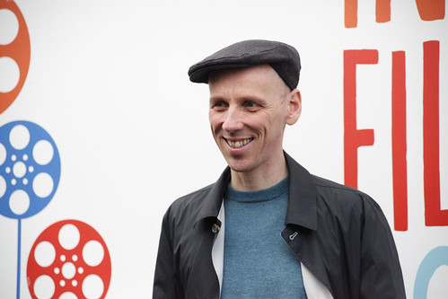 Ewen Bremner outside the Filmhouse after presenting the International Shorts Award at the 2012 EIFF Awards Ceremony