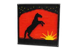 Sunset Stallion (Joshua Christenson) Tags: sunset horse black lego stallion