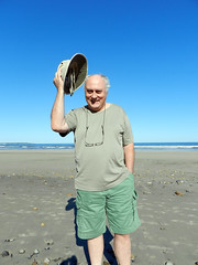 Tip of the Hat (LVHiggins) Tags: maine baldmen beachhat