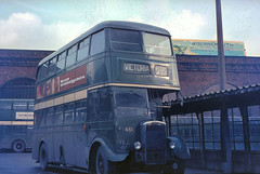 Salford City Transport 461, Salford Bus Station, 1970 (Lady Wulfrun) Tags: city england bus station manchester transport victoria viaduct borough greater 1970 salford metropolitan daimler 461 cvg6 selnec salfordcitytransport frj461