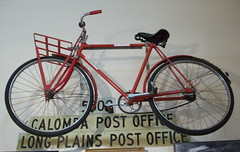 Postal delivery bicycle (mallala museum) Tags: bicycle postoffice postaldelivery