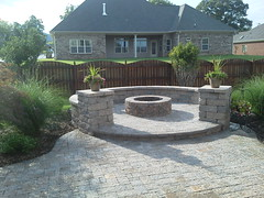 firepit with seatwall (primarily ponds) Tags: firepit seatwall