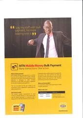 MTN Rwanda - Bulk payment Flyer