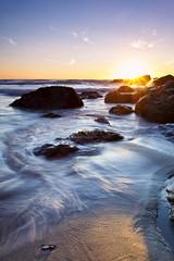 Summer Sun (Martin Mattocks (mjm383)) Tags: sunset sky seascape reflection water canon sand rocks cornwall horizon porthtowan singhray canoneos5dmarkii cornwalllandscapes mjm383 martinmattocksphotography