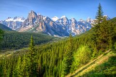 On the way to Moraine Lake, Banff National Park (D-Niev) Tags: canada alberta banffnationalpark