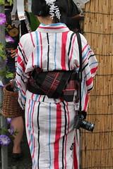 Camera on Yukata /  (yanoks48) Tags: japan yukata  kimono kanagawa kawasaki     kawasakidaishi