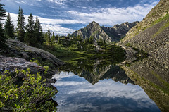 The Reflection (Steve Flowers) Tags: reflection backpacking moonlake weminuchewilderness nikond7000 nikon1024mmlens