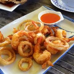 กุ้งชุบแป้งทอด | Fried Shrimp @ ซันเซ็ท ฟาร์มหอยหวาน | Sunset Farm