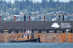 Tug @ English bay (agent1320) Tags: ocean sea canada west vancouver coast boat marine tugboat tug tow barge towing barges towboat