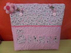 bolsa Bianka (Fran Artesanato) Tags: rosa com nome patchwork bolsa personalizada aplicaao