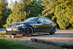 Mercedes-Benz C63 AMG (BenjiAuto (Ratet B. Photographie)) Tags: road black fra