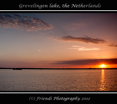 "Sunset, Grevelingen lake ""the Netherlands"" (drbob97) Tags: blue friends light sunset sea sky orange sun lake holland beach water netherlands beautiful dutch clouds canon dark landscape evening boat zonsondergang meer ray zeeland rays mussel vissen fishman oranje vissersboot 24105mm 40d friendsphotography mygearandme drbob97 grevenlingen flickrstruereflection1 flickrstruereflection2 flickrstruereflection3 mosselboat"