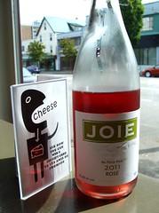 Joie 2011 (knightbefore_99) Tags: pink rose cheese vancouver restaurant bc wine hastings monday eastvan joie rethink rosado lepetitchavignol