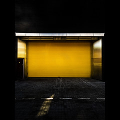 A Clean Bright Yellow Shutter Door on a Back Street Somewhere in Birmingham City Centre On a Lovely Warm Summer's Evening While  Working Away From Home (No Apologies for Lack of Punctuation) (Mr sAg) Tags: yellow interestingness interesting birmingham explore shutter westmidlands sag brum simonharrison mrsag simonharrison