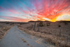 First Sunset of the Day (Extra Medium) Tags: road sunset abandoned field sunrise fence openspace conejovalley santamonicamountainsnationalrecreationarea singhrayrgnd ranchosatiwawa darrylbensonreversegraduatedneutraldensityfilter